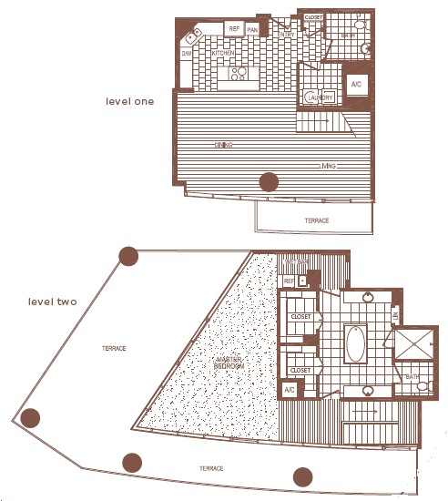 1,736 sq. ft. PH2 floor plan
