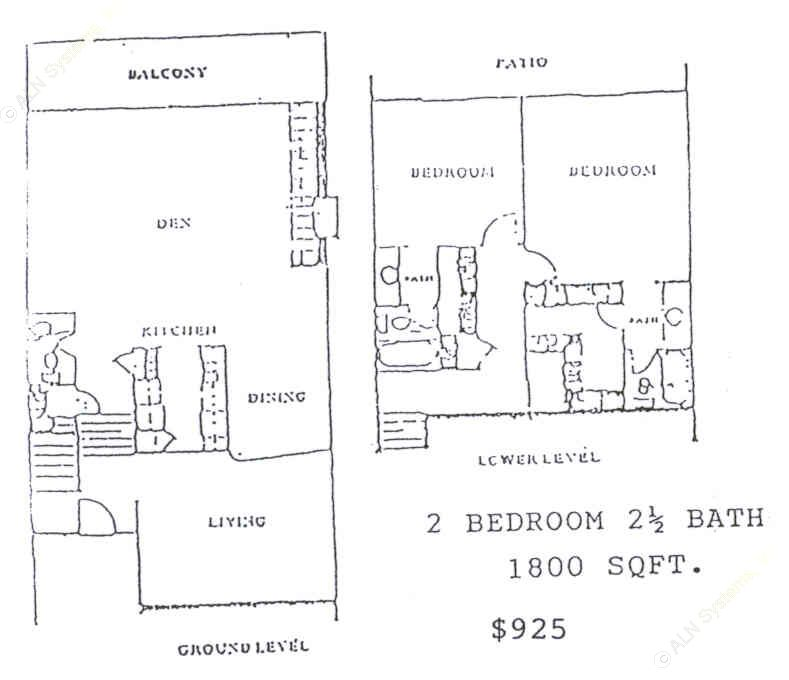 1,800 sq. ft. floor plan