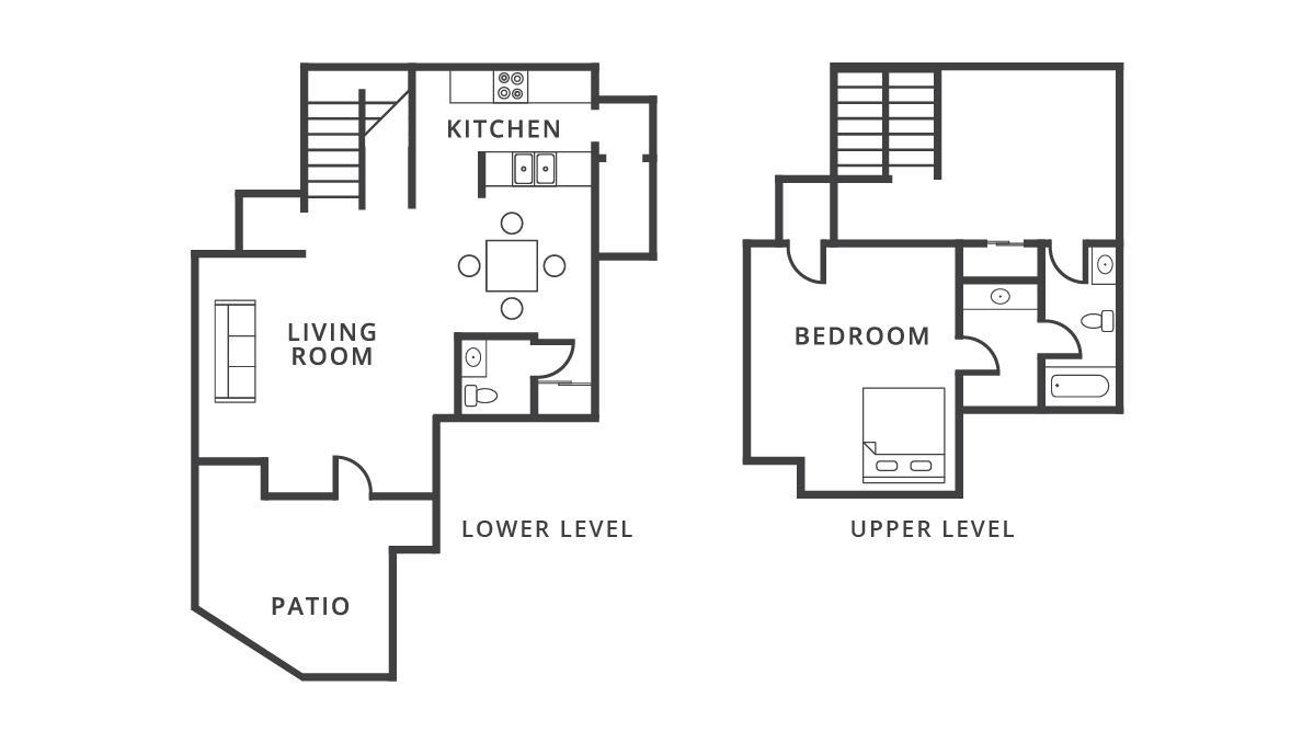 997 sq. ft. Monaco floor plan