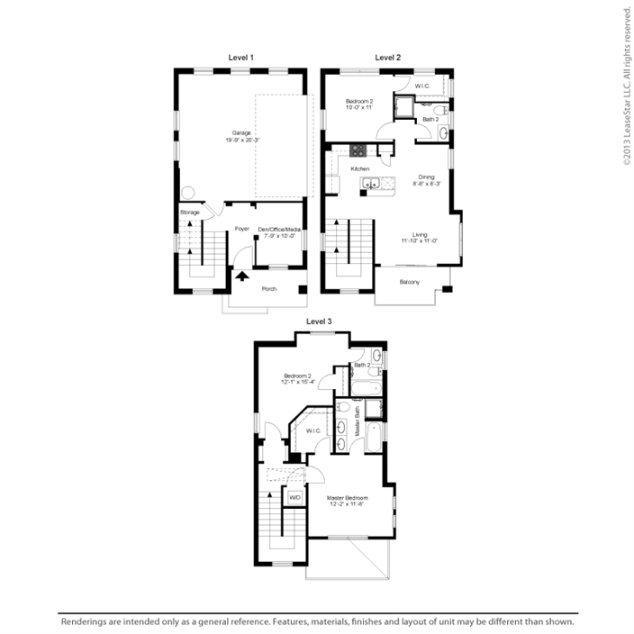 1,494 sq. ft. C1 floor plan