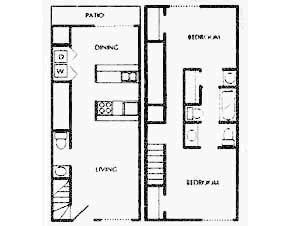1,106 sq. ft. floor plan