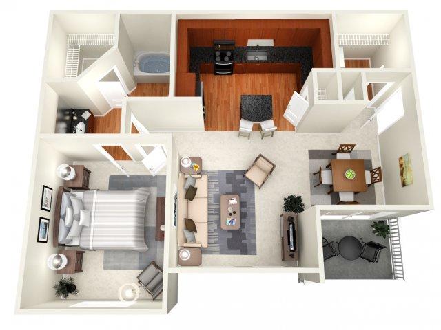 763 sq. ft. Sydney floor plan