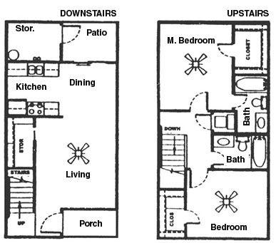 1,035 sq. ft. C floor plan