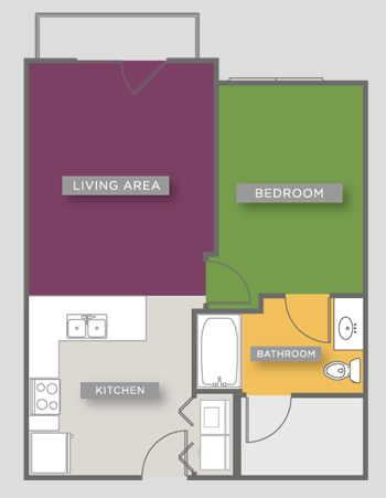 603 sq. ft. A2-ANSI floor plan