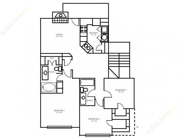 1,224 sq. ft. Chambord floor plan