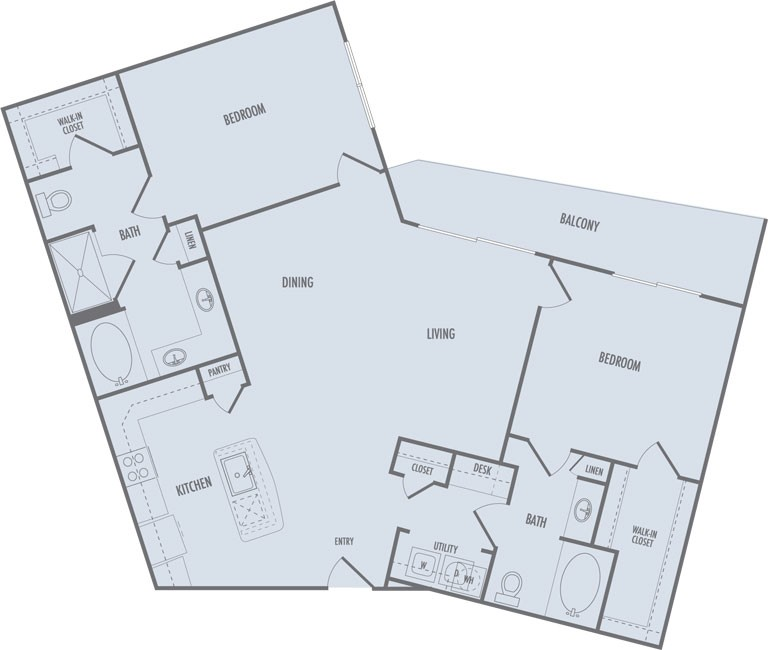 1,302 sq. ft. C4 floor plan