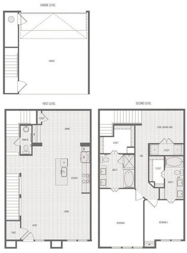 1,739 sq. ft. B2 Th floor plan