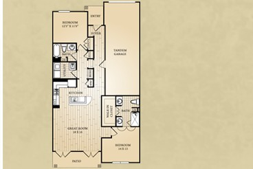 1,332 sq. ft. Frio floor plan