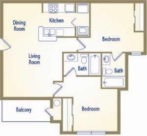828 sq. ft. A1-I floor plan