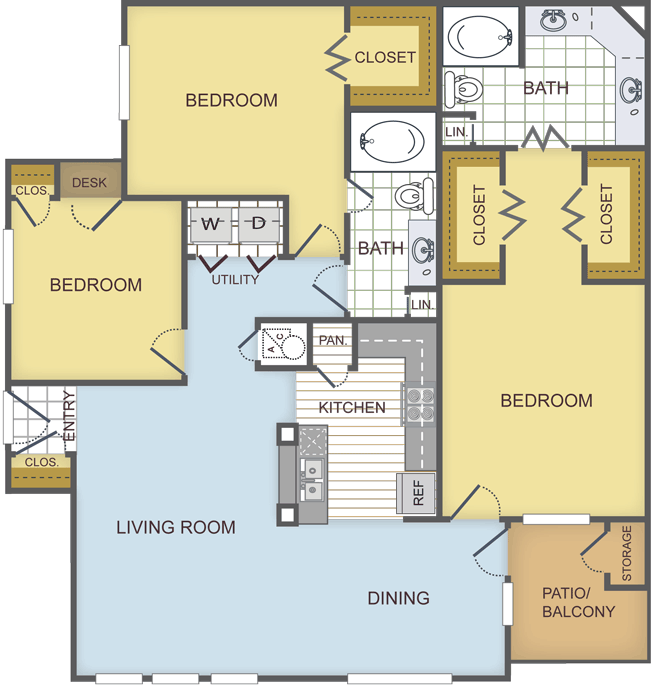 1,367 sq. ft. SEQUOIA floor plan