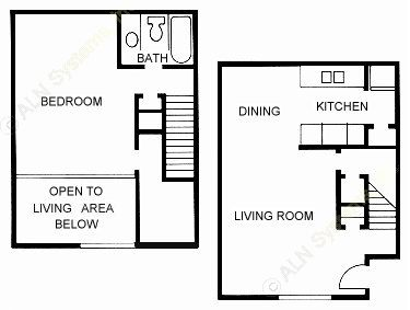 853 sq. ft. A3 floor plan