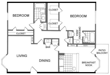 1,240 sq. ft. Tyler floor plan