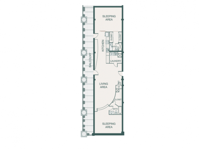 1,594 sq. ft. X floor plan