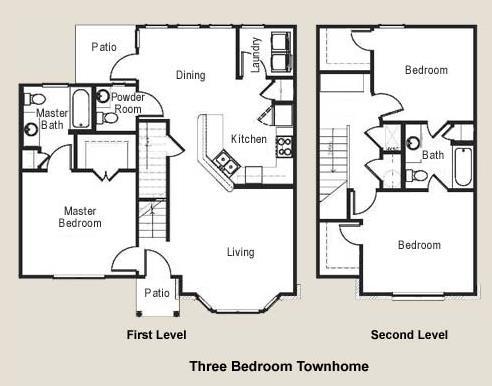 1,357 sq. ft. 60 floor plan