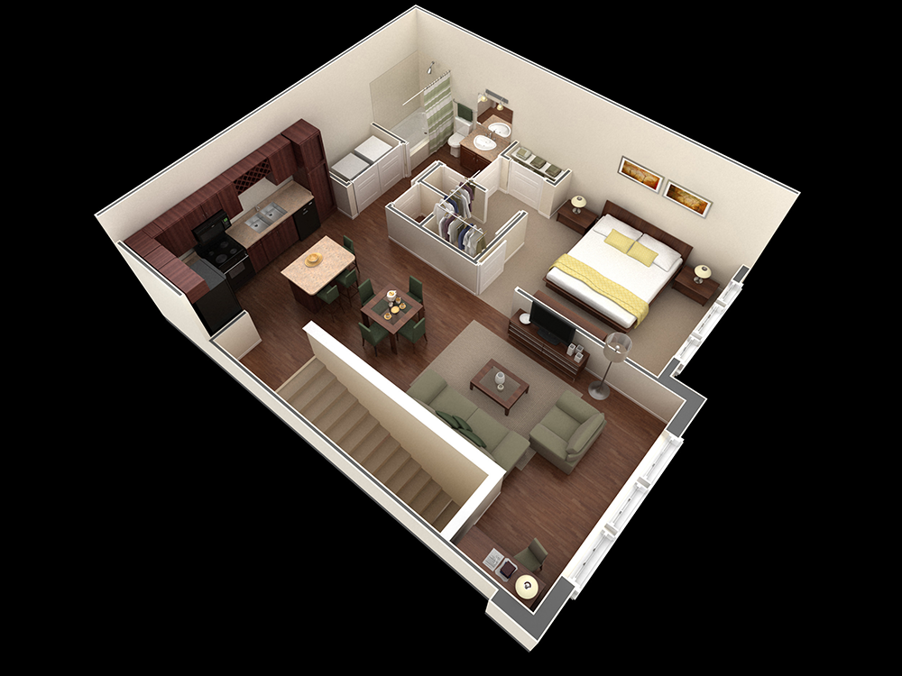 854 sq. ft. Vaughan floor plan