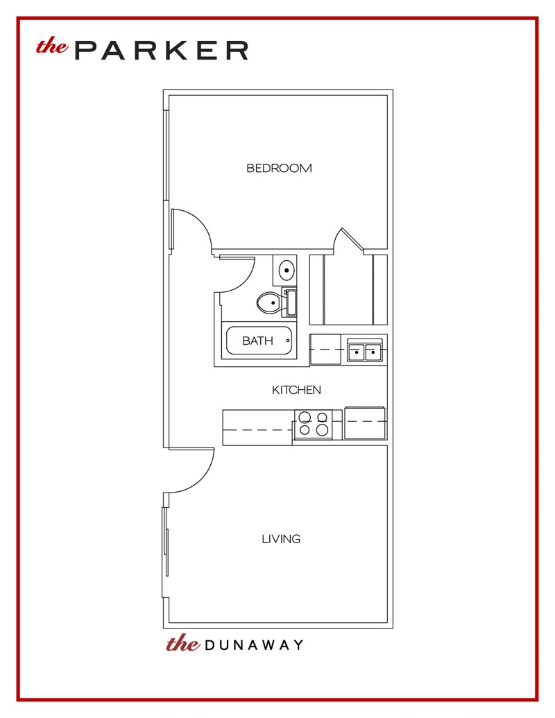 530 sq. ft. Dunaway floor plan