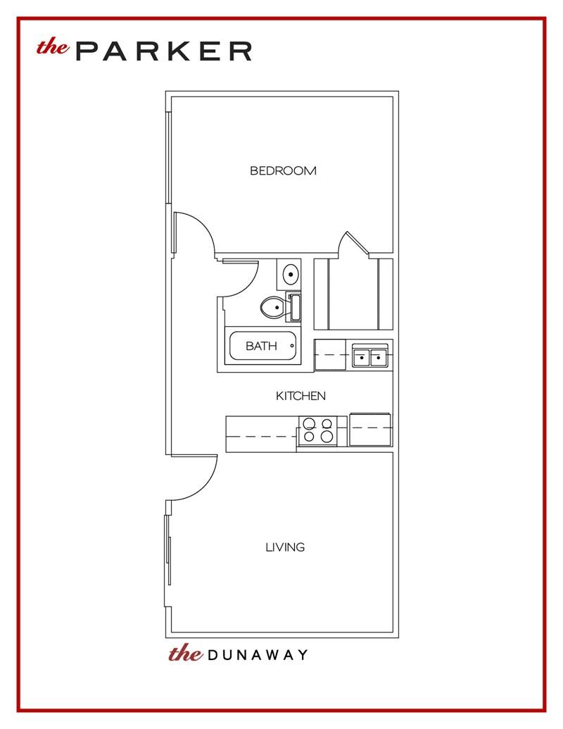 530 sq. ft. Dunaway floor plan