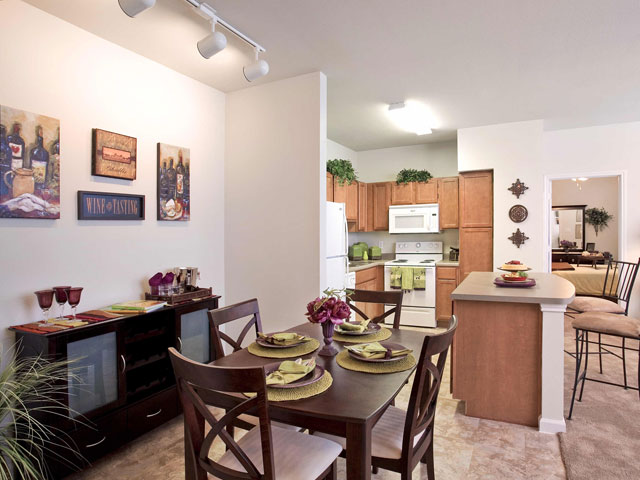 Dining/Kitchen at Listing #145368