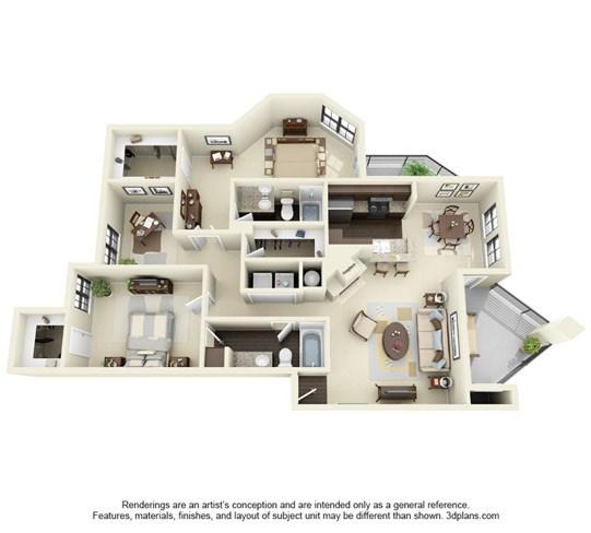 1,252 sq. ft. G floor plan