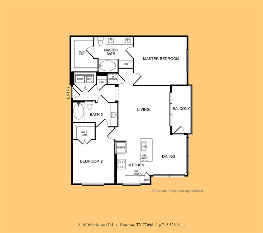 1,197 sq. ft. to 1,254 sq. ft. B2 floor plan