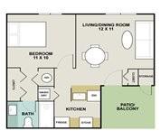 503 sq. ft. Mustang floor plan