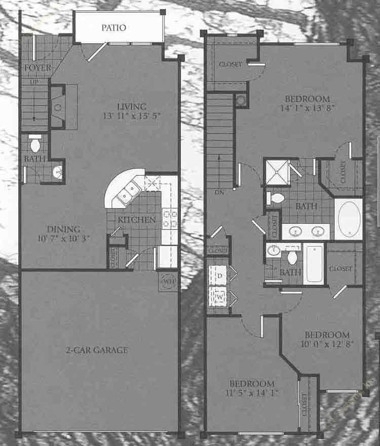1,448 sq. ft. Cambridge floor plan