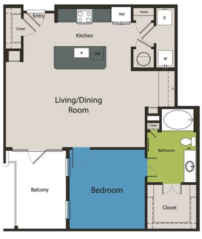 918 sq. ft. A7.3 floor plan
