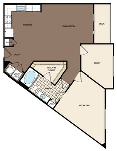 998 sq. ft. B1-alt1 floor plan