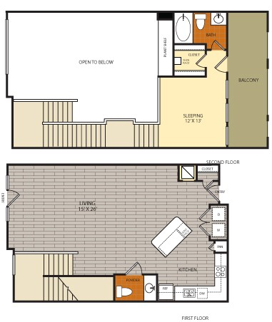 1,172 sq. ft. to 1,241 sq. ft. L1 floor plan