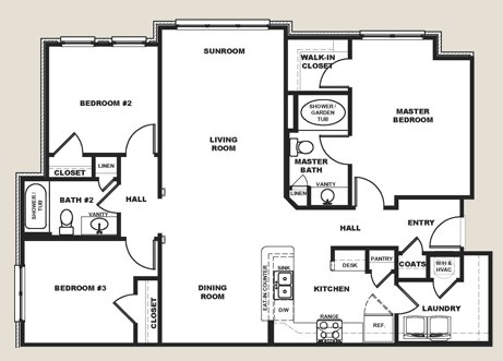 1,198 sq. ft. floor plan