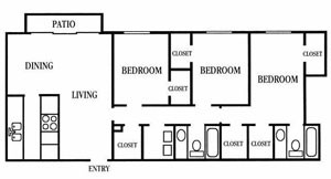 1,420 sq. ft. floor plan