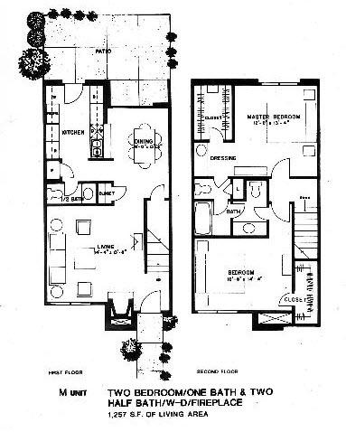 1,257 sq. ft. M floor plan
