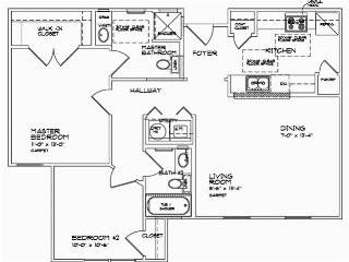 925 sq. ft. B1 60% floor plan