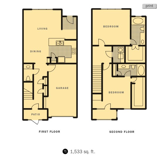 1,533 sq. ft. Renner floor plan