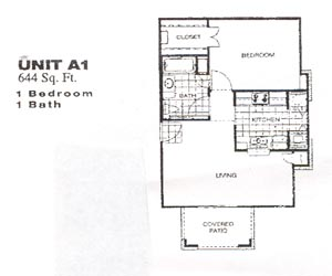644 sq. ft. 50% floor plan