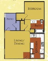 820 sq. ft. 60%/Bristol floor plan