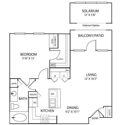 759 sq. ft. to 833 sq. ft. Avignon floor plan