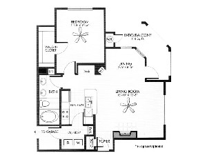 813 sq. ft. Limestone floor plan