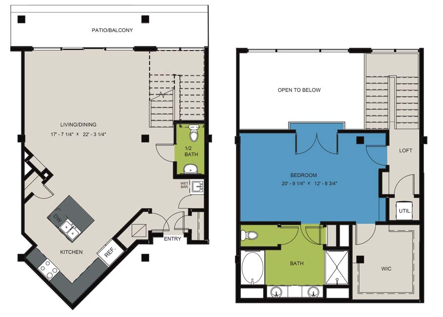 1,463 sq. ft. A10 floor plan