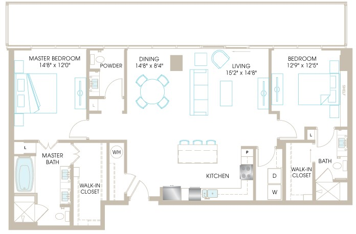 1,491 sq. ft. C8cP floor plan