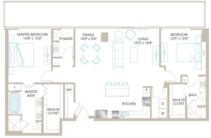 1,491 sq. ft. C8cP floor plan