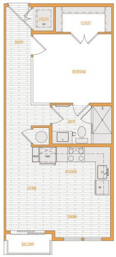 542 sq. ft. A1 Alt 3 floor plan