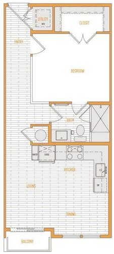 542 sq. ft. A1 Alt 3 floor plan