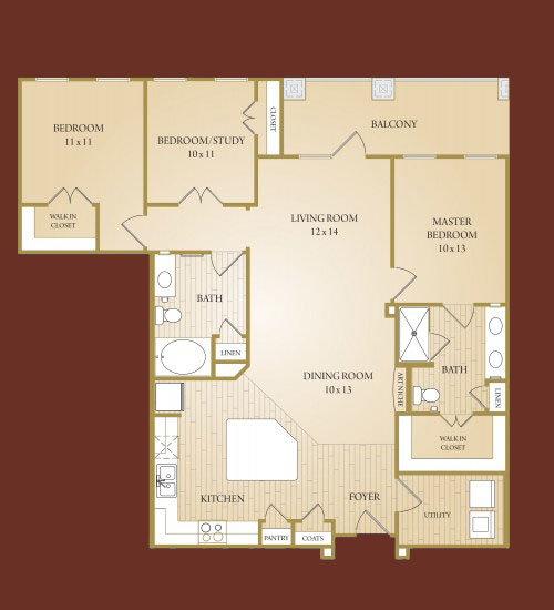 1,405 sq. ft. Comal floor plan