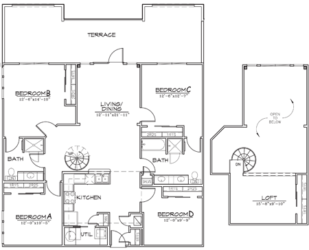 1,724 sq. ft. floor plan