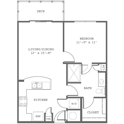 646 sq. ft. A1-c floor plan