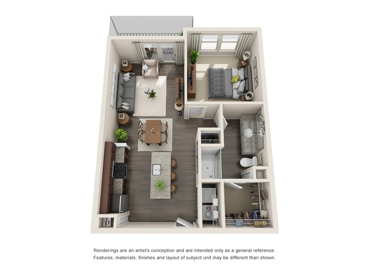 702 sq. ft. A4 floor plan