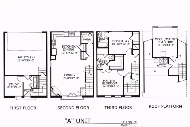 1,417 sq. ft. A floor plan