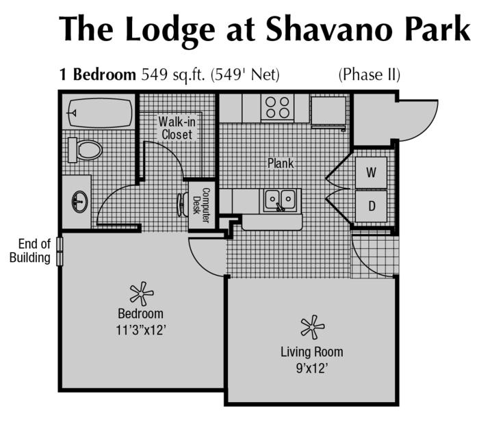 549 sq. ft. floor plan
