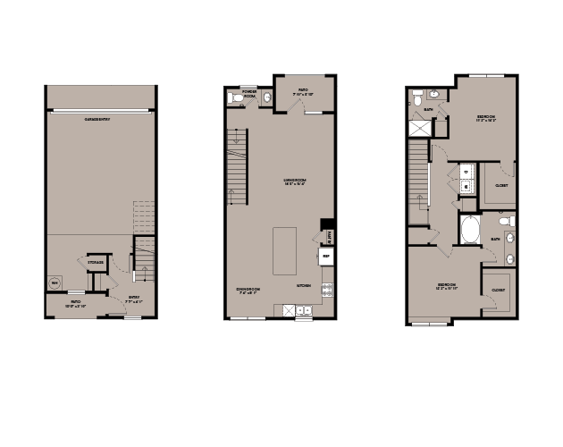 1,625 sq. ft. TH B2 floor plan